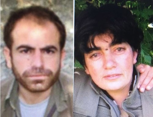 Top PKK terrorists Soro code named Salih Kaplan (R) and Zinnarin coded Hacire Tanhan (L) were killed in anti-terror operations in Mardin.