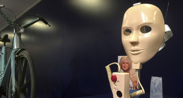"""A """"Rejuvenique"""" electric beauty mask on display at the Museum of Failure in Helsingborg."""