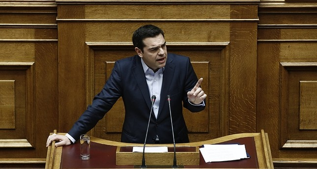 Greek Prime Minister Alexis Tsipras answers a question on corruption, during the Prime Minister's Time at the parliament in Athens, Greece, 10 February 2017 EPA Photo