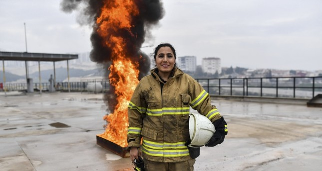 Devrim Özdemir has been working as a firefighter for 10 years in İzmir firehouse.