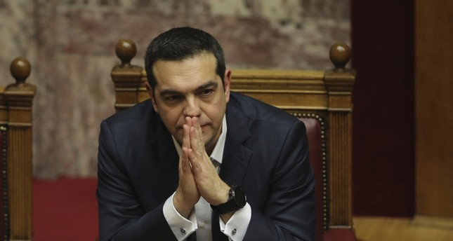 Greek Prime Minister Alexis Tsipras attends a parliamentary session, Athens, Jan. 16, 2019.