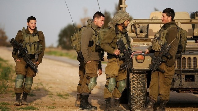 IDF soldiers near the border with Gaza (Reuters Photo)