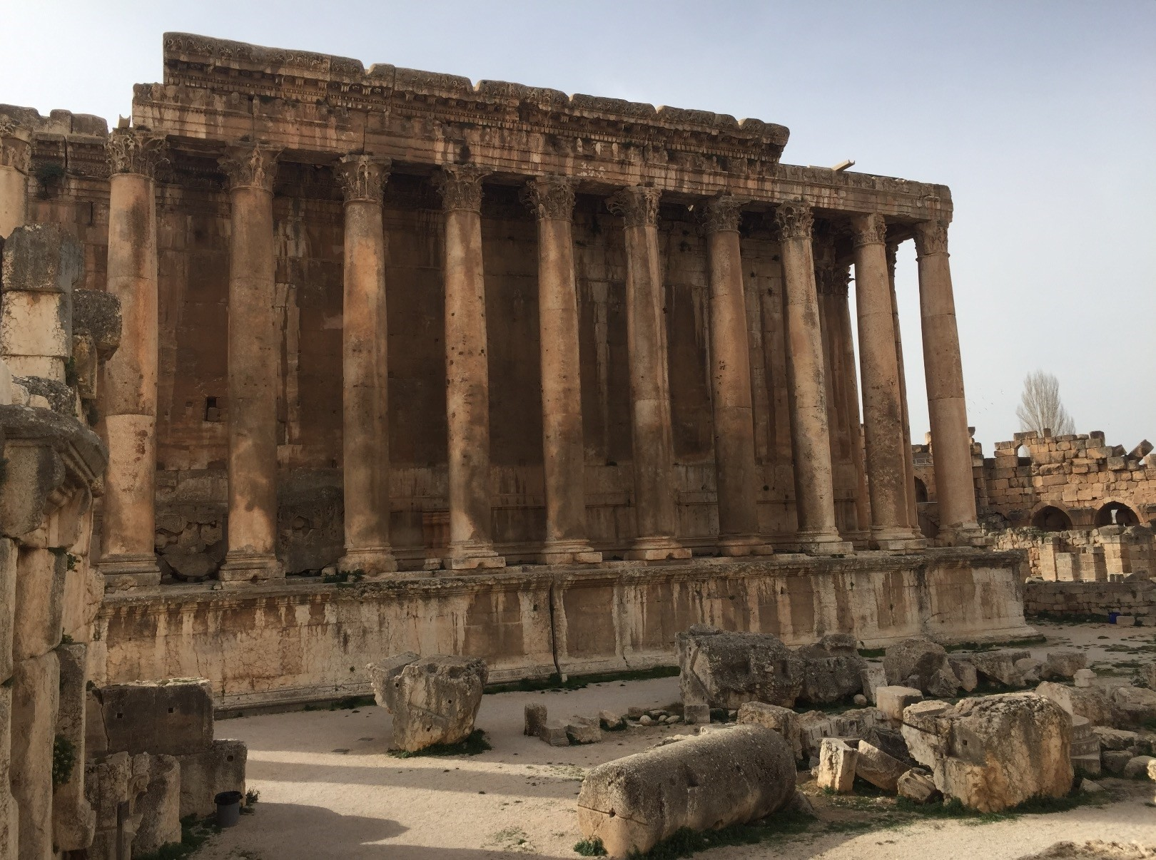 The ancient ruins of Baalbek