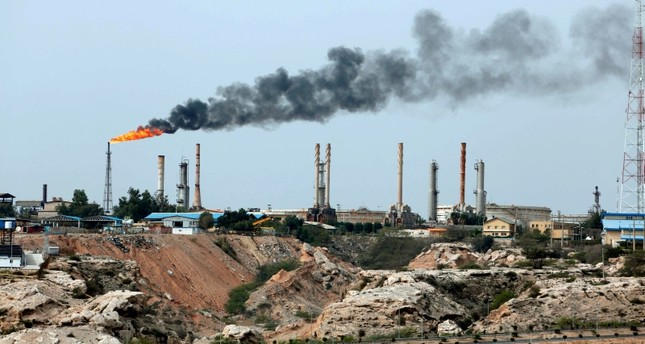 This file photo taken on March 12, 2017 shows an oil facility in the Khark Island, on the shore of the Gulf. (AFP Photo)