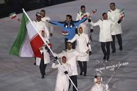 الفريق الإيراني المشارك في الألعاب الأولمبية (AP )