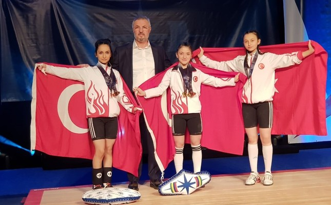 Turkish weightlifter bags three medals