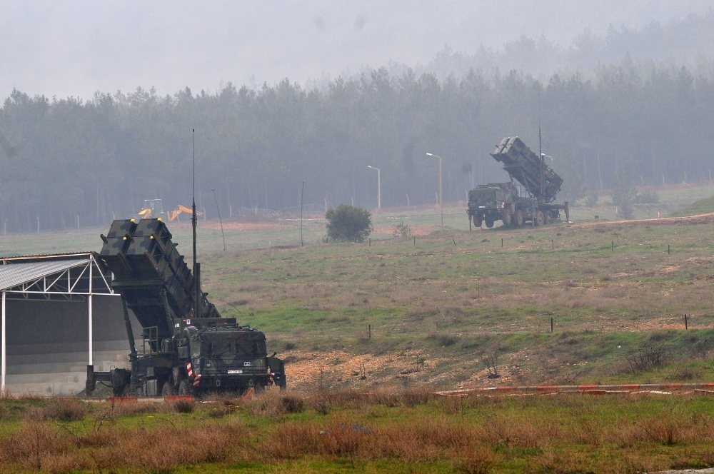 Patriot missile systems stationed in southern Turkey's Kahramanmarau015f province, Feb. 23, 2013.