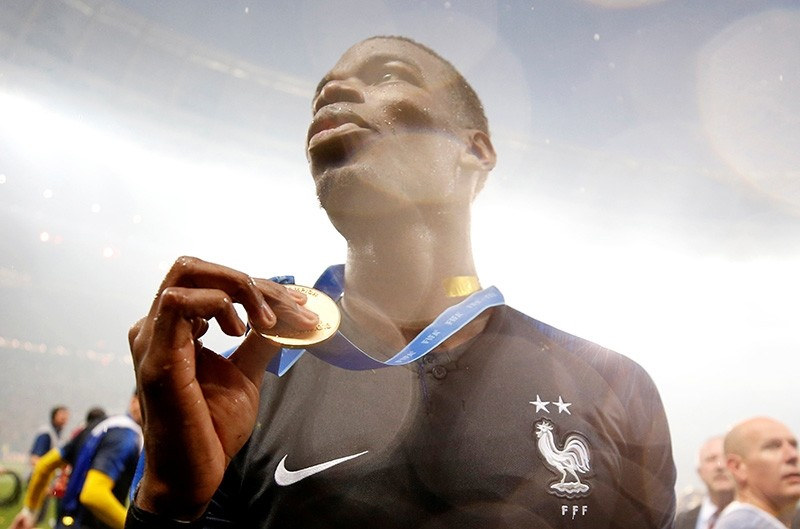 France's Paul Pogba celebrates winning the World Cup (Reuters Photo)