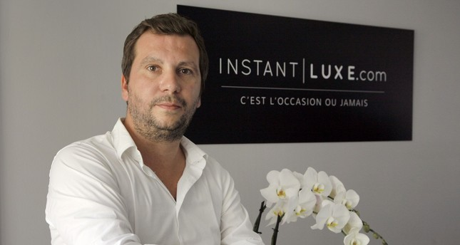 Yann Le Floc'h, CEO of InstantLuxe.com, a website specialised in second-hand luxury bags, poses in Paris.