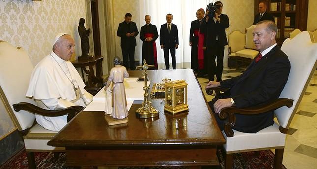 أردوغان وبابا الفاتيكان يطالبان بدور دولي لوقف الانتهاكات في فلسطين
