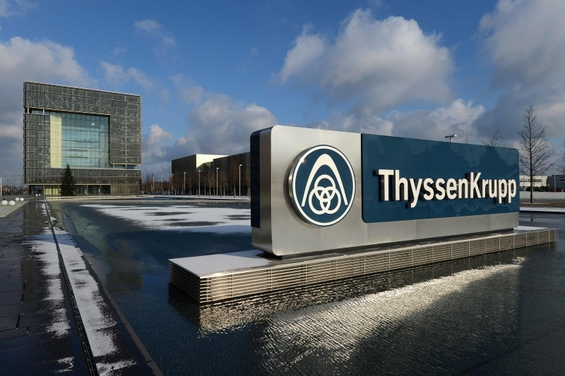 In this file photo taken on December 11, 2012 a general view of the headquarters of German heavy industry giant ThyssenKrupp AG is taken in Essen, western Germany. (AFP Photo)