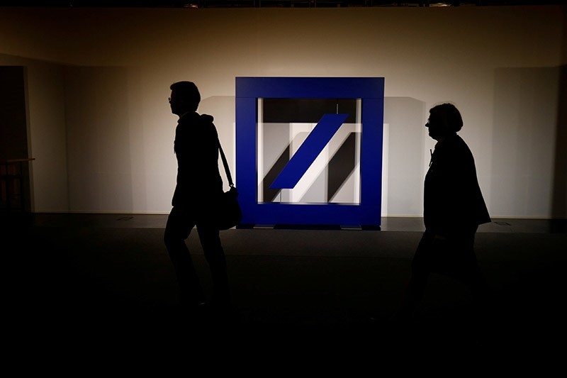 The logo of Deutsche Bank is seen at its headquarters ahead of the bank's annual general meeting in Frankfurt, Germany May 18, 2017. (Reuters Photo)