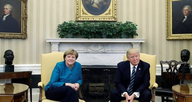 أول لقاء بين ترامب وميركل في البيت الأبيض