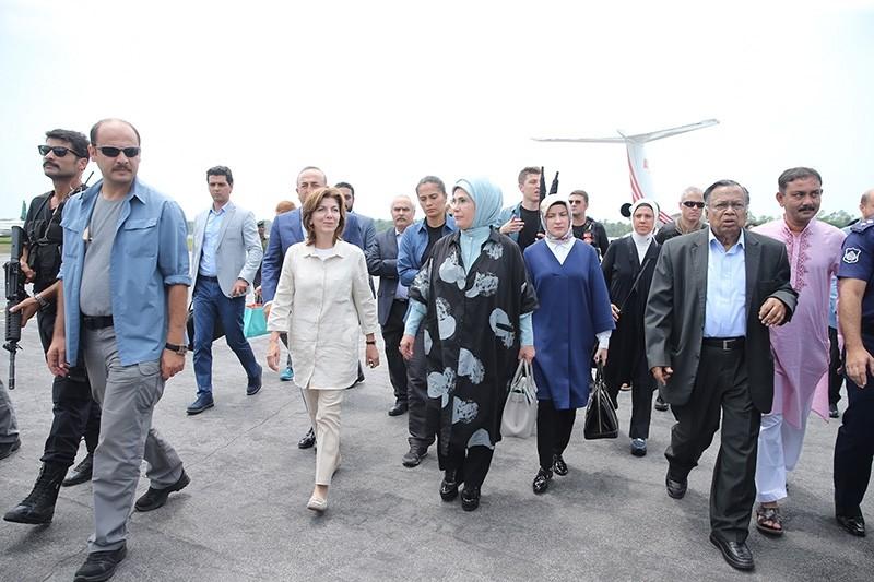 First Lady Emine Erdou011fan arrives in Bangladesh to visit Rohingya refugee camp in Cox Bazaar (AA Photo)