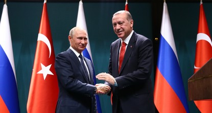 pPresident Recep Tayyip Erdoğan and his Russian counterpart Vladimir Putin discussed the Astana peace process and the Syrian crisis in a phone call Saturday, the Kremlin has said./p  pAccording...