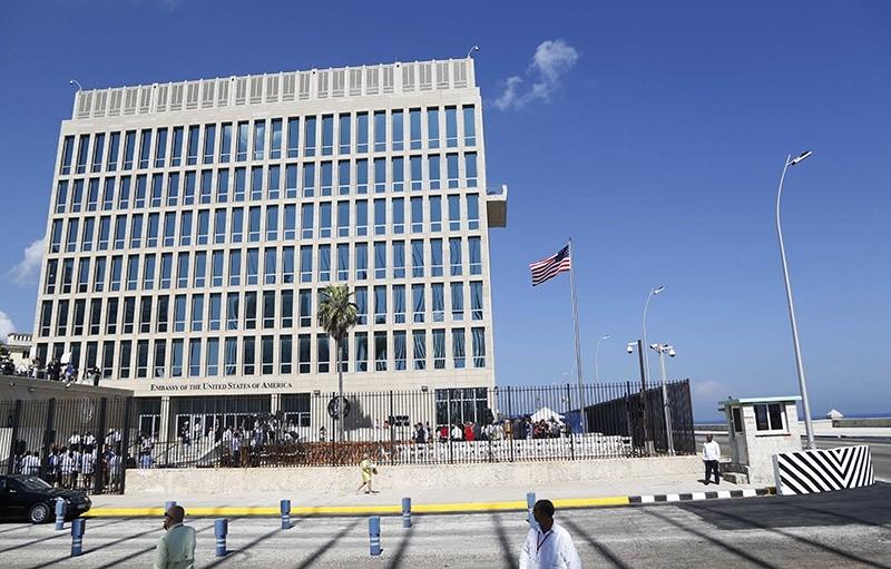 In this photo taken Aug. 14, 2015, a U.S. flag flies at the U.S. embassy in Havana, Cuba. (AP Photo)