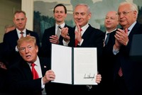 US recognizes Israeli 'sovereignty' over Golan Heights