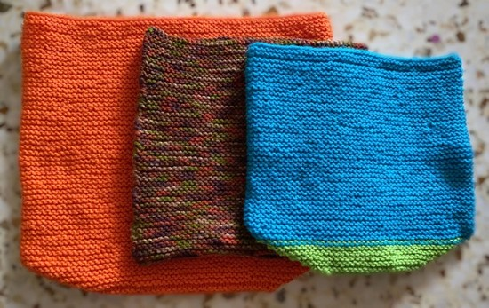 Completed knitted outer pouches for joeys affected by Australia bushfires are seen in this January 5, 2020 image obtained via social media, in Singapore. (Leslie Kok via REUTERS)
