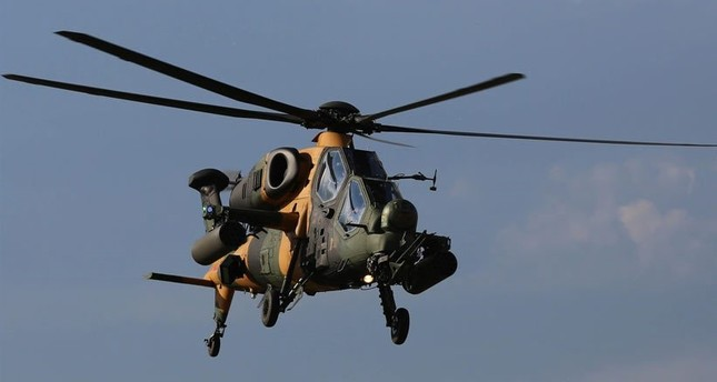 The T129 Tactical Reconnaissance and Attack Helicopter ATAK is one of the air platforms on duty in Turkish army's Operation Claw continuing in northern Iraq.