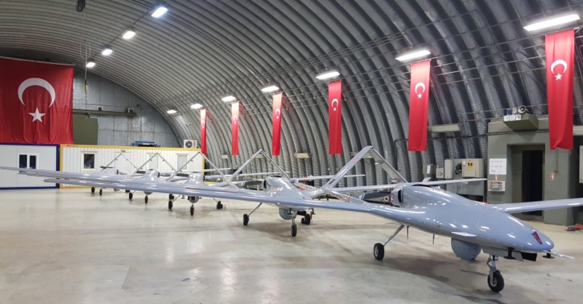 Turkey's domestically produced Bayraktar drones (AA Photo)