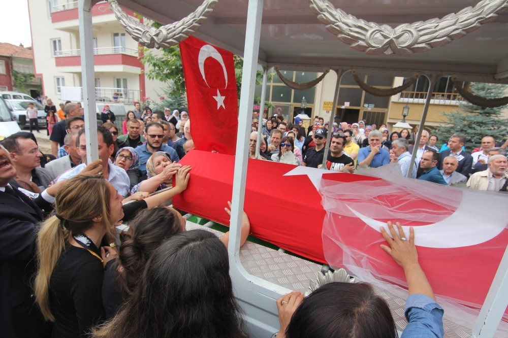 People flocked the streets at the funeral ceremony of the 22-year-old music teacher, u015eenay Aybu00fcke Yalu00e7u0131n, who was killed by a PKK terrorist attack in Turkeyu2019s southeastern city of Batman where she was appointed to a public school last October.