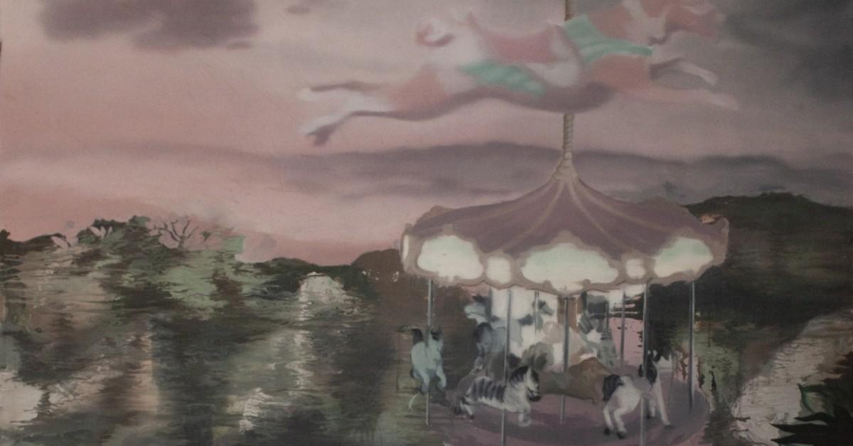 Bu00f6rte u0130pek, ,Sweet Dreams,, 2018, acrylic on canvas, 140x130 cm.
