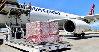 pDie Turkish Airlines (THY) lieferte am Montag 60 Tonnen Nahrungsergänzungsmittel für unterernährte somalische Kinder als Teil einer Hilfskampagne für das unter Dürre leidende Somalia./p  pDie...