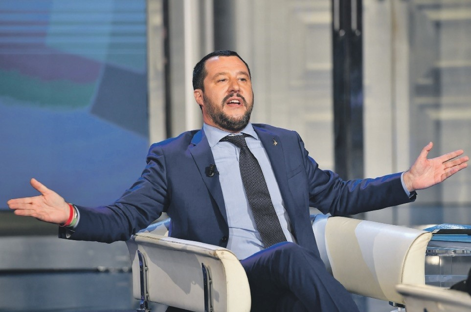 Italian far-right leader Matteo Salvini celebrated a historic win in local elections that saw left-wing bastions fall to conservatives.