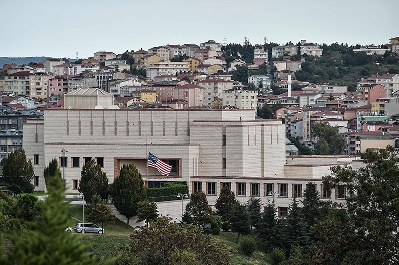 A picture taken Oct. 9, 2017 shows a general view of U.S. Consulate in Istanbul, Turkey. (AFP Photo)