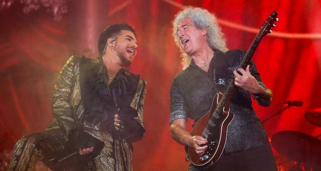 Adam Lambert L and Brian May of Queen perform onstage at the 2019 Global Citizen Festival at Central Park in New York, Sept. 28, 2019. REUTERS Photo