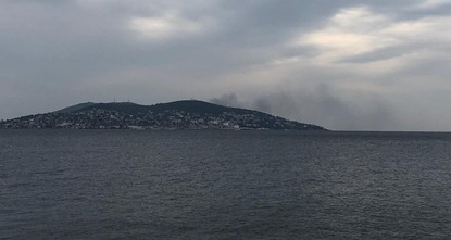 Fire breaks out in Büyükada off the coast of Istanbul