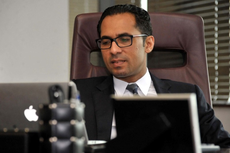 In this file photo taken on April 23, 2015 Tanzanian businessman Mohammed Dewji sits at his office in Dar es Salaam. (AFP Photo)