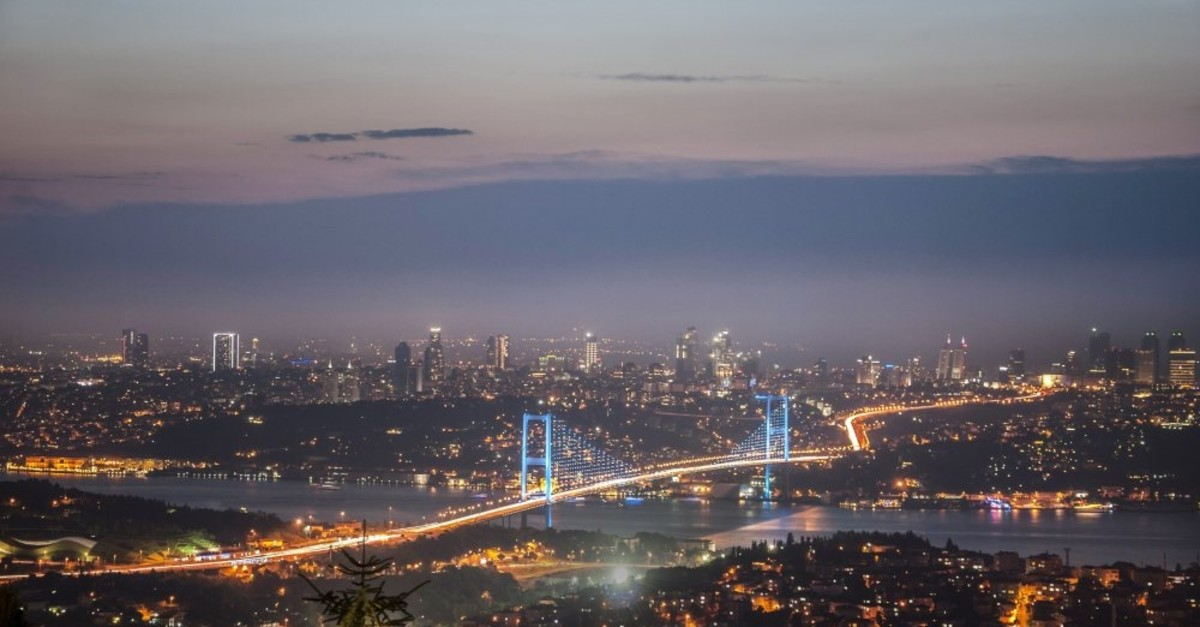 A view of Istanbul's July 15 Martyrs Bridge (formerly known as the Bosporus Bridge).