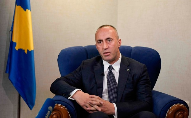 In this file photo taken on January 25, 2019 Kosovo Prime Minister Ramush Haradinaj speaks during an interview with the AFP, in Pristina. - Kosovo PM resigns after being called to war crimes court, AFP learnt on July 19, 2019. (AFP Photo)