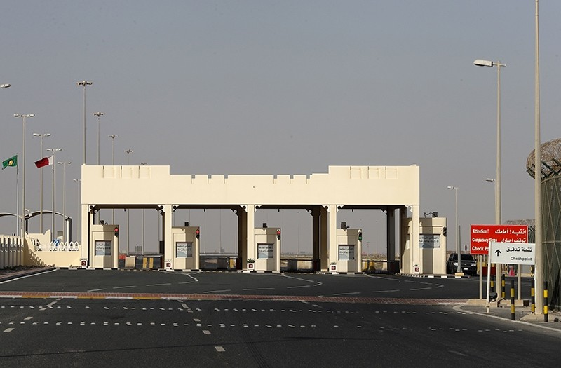 This file photo taken on June 23, 2017 shows a general view of the Qatari side of the Abu Samrah border crossing with Saudi Arabia. (AFP Photo)