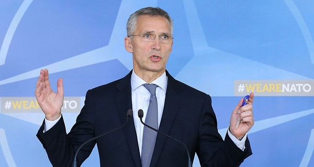 NATO Secretary General Jens Stoltenberg held a press conference in Brussels Oct. 26, 2017 (AA Photo)