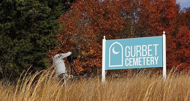 Outdoor sign of the FETÖ cemetery established in Pennsylvania, U.S. Nov. 9, 2016. (AA Photo)