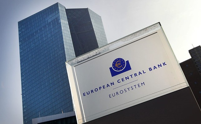 This file photo taken on January 21, 2016 shows the headquarters of the European Central Bank (ECB) in Frankfurt am Main, western Germany, on January 21, 2016. (AFP Photo)