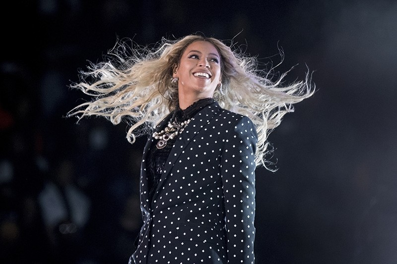 This Nov. 4, 2016, file photo shows Beyonce performing at a Get Out the Vote concert for Democratic presidential candidate Hillary Clinton in Cleveland (AP Photo)