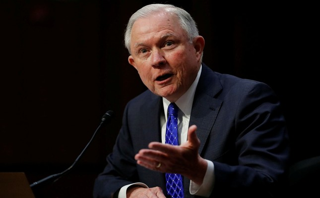 Attorney General Jeff Sessions testifies before the Senate Judiciary Committee on Capitol Hill in Washington, Wednesday, Oct. 18, 2017. (AP Photo)