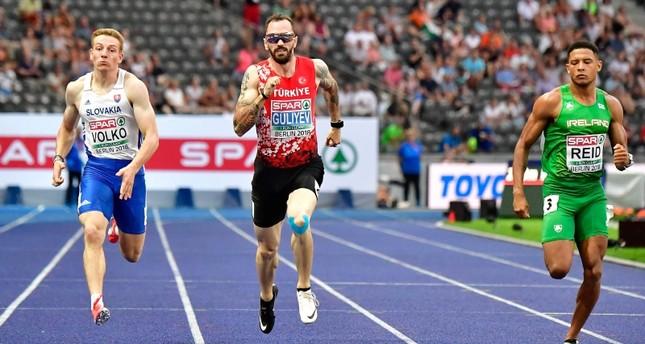 Turkey's Ramil Guliyev wins gold in 200-meter race