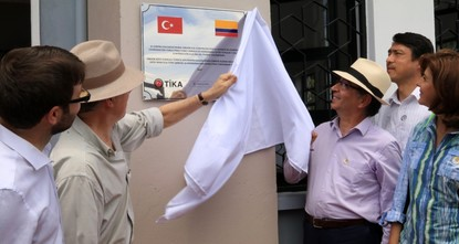 pA school in rural Colombia built by Turkey's aid agency opened with a ceremony attended by President Juan Manuel Santos./p  pThe school in the Orejon area of Antioquia, in the country's...