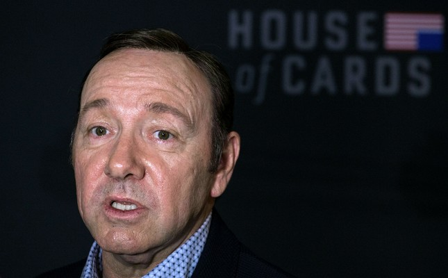 This file photo taken on February 23, 2016 shows actor Kevin Spacey arriving for  the season 4 premiere screening of the Netflix show House of Cards in Washington, DC.