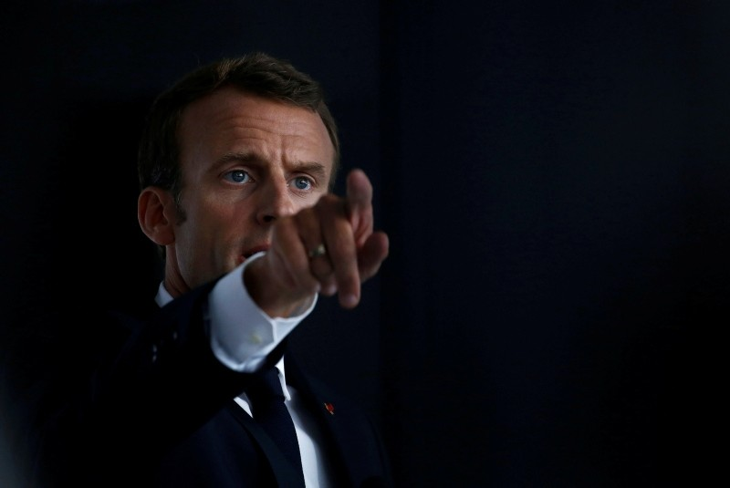 French President Emmanuel Macron delivers a speech in Quimper, France, June 21, 2018. (Reuters Photo)