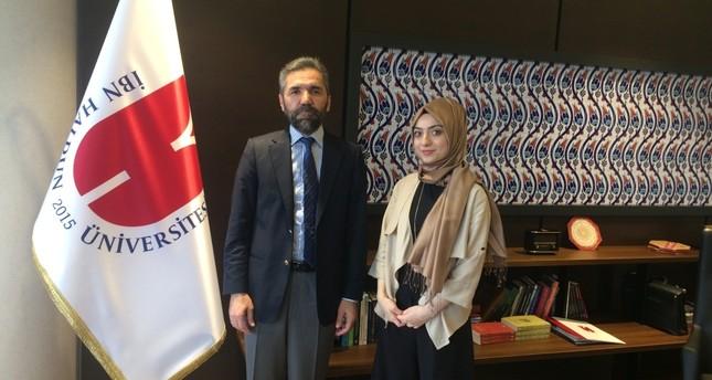 Prof. Dr. Recep Şentürk with Daily Sabah reporter Şeyma Nazlı Gürbüz