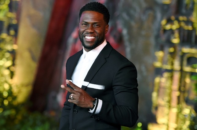 In this file photo, Kevin Hart arrives at the Los Angeles premiere of Jumanji: Welcome to the Jungle in Los Angeles. (AP Photo)