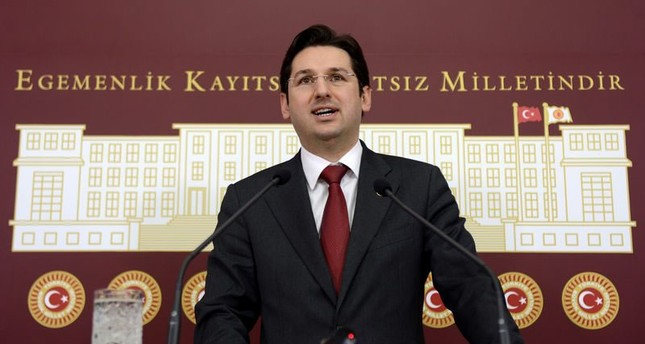This file photo shows former CHP deputy Aykan Erdemir holding a press conference in Parliament, on Feb. 14, 2013. (AA Photo)
