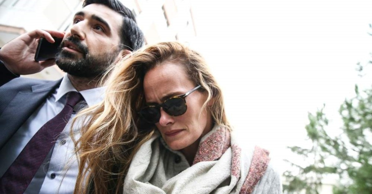 Le Mesurier's wife Emma Winberg drew suspicion for her contradicting statement to police. (AA Photo)