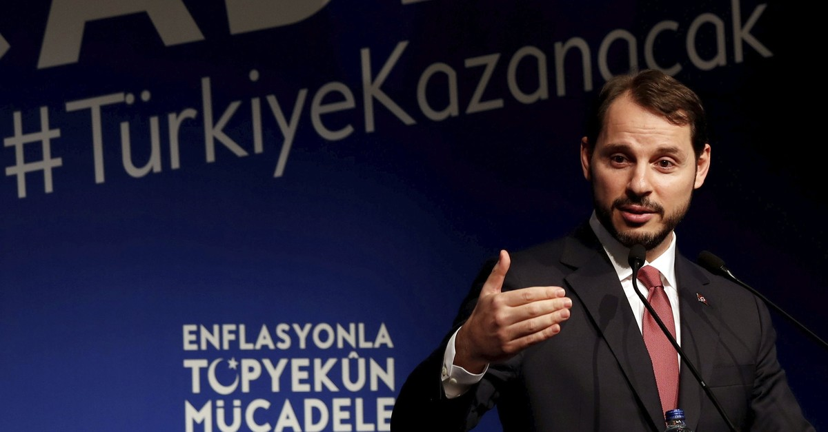 Treasury and Finance Minister Berat Albayrak speaks during an event to announce the governmentu2019s Full-Scale Fight Against Inflation program in Istanbul, Oct. 9, 2018.