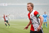 Dirk Kuyt, the veteran captain of Feyenoord who led his team to its first Dutch league title in 18 years, is retiring.